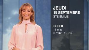 Stéphanie Duval à la Météo du Soir - 18/09/19 - 08