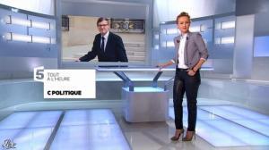 Caroline Roux dans une Bande-Annonce de C Politique - 08/12/13 - 03