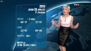 Evelyne Dhéliat à la Météo de 20 H - 24/07/13 - 04