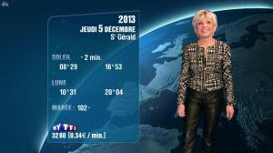 Evelyne Dhéliat à la Météo de de 20h - 04/12/13 - 04