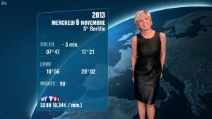 Evelyne Dhéliat à la Météo de de 20h - 05/11/13 - 04