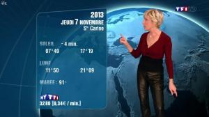 Evelyne Dhéliat à la Météo de de 20h - 06/11/13 - 05