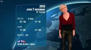 Evelyne Dhéliat à la Météo de de 20h - 06/11/13 - 06