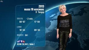 Evelyne Dhéliat à la Météo de de 20h - 18/11/13 - 06