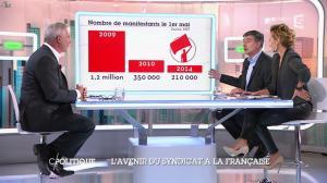 Caroline Roux dans C Politique - 19/10/14 - 081