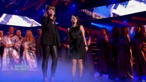 Chimène Badi et Alizée dans Samedi Soir On Chante Goldman - 19/01/13 - 17