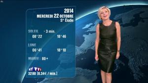 Evelyne Dhéliat à la Météo de 20h - 21/10/14 - 05