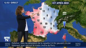 Fanny Agostini à la Météo de BFM TV - 07/12/16 - 07