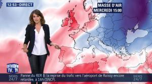 Fanny Agostini à la Météo de BFM TV - 07/12/16 - 08