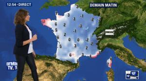 Fanny Agostini à la Météo de BFM TV - 07/12/16 - 09