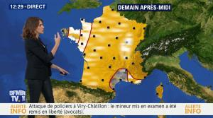 Fanny Agostini à la Météo de BFM TV - 13/12/16 - 02