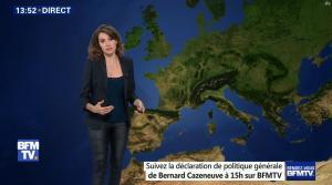 Fanny Agostini à la Météo de BFM TV - 13/12/16 - 10