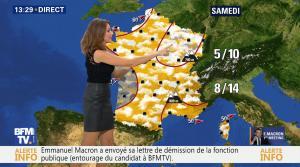 Fanny Agostini à la Météo de BFM TV - 17/11/16 - 08