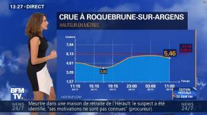 Fanny Agostini à la Météo de BFM TV - 25/11/16 - 03