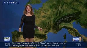 Fanny Agostini à la Météo de BFM TV - 28/11/16 - 02