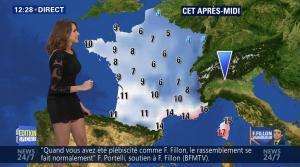 Fanny Agostini à la Météo de BFM TV - 28/11/16 - 06