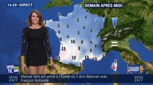 Fanny Agostini à la Météo de BFM TV - 28/11/16 - 17