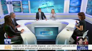 Daniela Prepeliuc et Candice Mahout à la Météo de BFM TV - 30/10/17 - 01