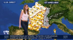 Daniela Prepeliuc à la Météo de BFM TV - 08/08/17 - 02
