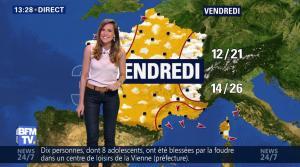 Daniela Prepeliuc à la Météo de BFM TV - 08/08/17 - 06