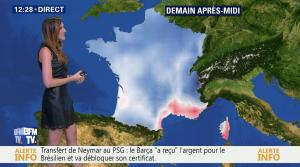 Daniela Prepeliuc à la Météo de BFM TV - 11/08/17 - 06