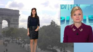 Daniela Prepeliuc à la Météo de BFM TV - 18/09/17 - 02