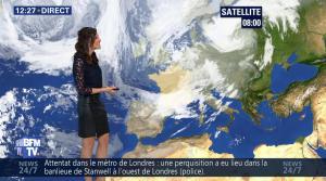 Daniela Prepeliuc à la Météo de BFM TV - 18/09/17 - 03