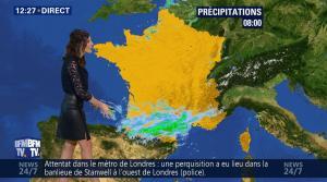 Daniela Prepeliuc à la Météo de BFM TV - 18/09/17 - 04