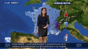 Daniela Prepeliuc à la Météo de BFM TV - 18/09/17 - 05