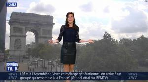 Daniela Prepeliuc à la Météo de BFM TV - 18/09/17 - 10