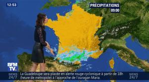 Daniela Prepeliuc à la Météo de BFM TV - 18/09/17 - 11