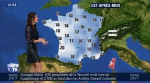 Daniela Prepeliuc à la Météo de BFM TV - 18/09/17 - 12
