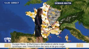 Daniela Prepeliuc à la Météo de BFM TV - 18/09/17 - 16