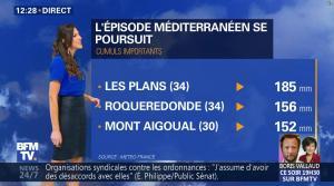 Daniela Prepeliuc à la Météo de BFM TV - 19/10/17 - 02