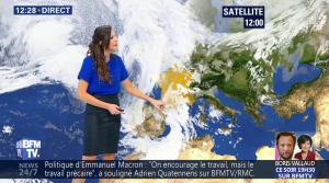 Daniela Prepeliuc à la Météo de BFM TV - 19/10/17 - 03