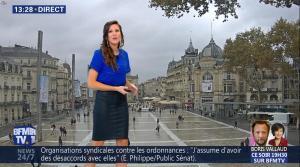 Daniela Prepeliuc à la Météo de BFM TV - 19/10/17 - 07