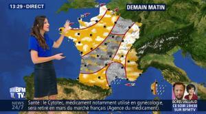Daniela Prepeliuc à la Météo de BFM TV - 19/10/17 - 08