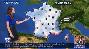 Daniela Prepeliuc à la Météo de BFM TV - 19/10/17 - 09