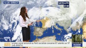 Daniela Prepeliuc à la Météo de BFM TV - 26/10/17 - 02