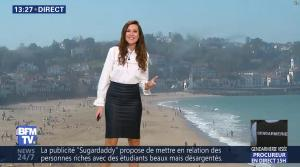 Daniela Prepeliuc à la Météo de BFM TV - 26/10/17 - 05