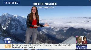 Daniela Prepeliuc à la Météo de BFM TV - 30/10/17 - 06