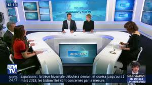 Daniela Prepeliuc à la Météo de BFM TV - 31/10/17 - 01