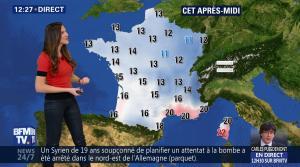 Daniela Prepeliuc à la Météo de BFM TV - 31/10/17 - 03