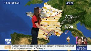 Daniela Prepeliuc à la Météo de BFM TV - 31/10/17 - 06