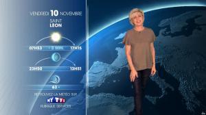 Evelyne Dhéliat à la Météo du Soir - 09/11/17 - 02