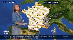 Sandra Larue à la Météo de BFM TV - 28/06/17 - 07