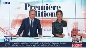 Aurélie Casse dans Première Edition - 01/11/18 - 13