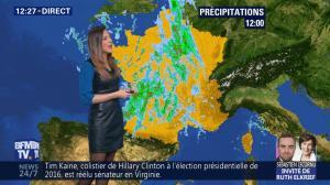 Daniela Prepeliuc à la Météo de BFM TV - 07/11/18 - 02