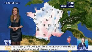 Daniela Prepeliuc à la Météo de BFM TV - 07/11/18 - 04