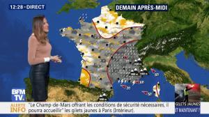 Daniela Prepeliuc à la Météo de BFM TV - 22/11/18 - 02